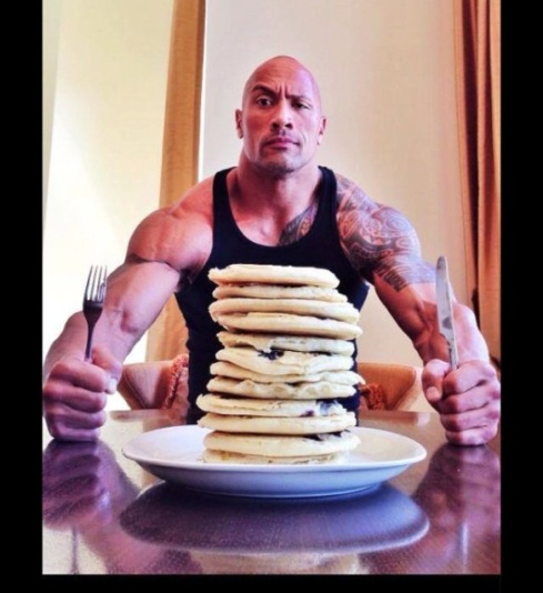 "If ""The Rock"" says it's ok to have a cheat day, who's going to argue."