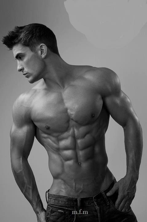 The best way to abs like this isn't endless sit-ups (although they help), it's a dedicated approach to what you eat.