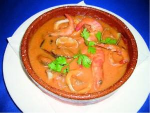 Creamy and delicious cazuela de mariscos