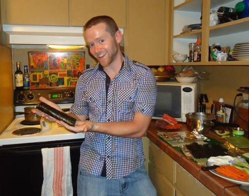 And here's the Crazy Irishman (I'm talking about the sushi roll folks)