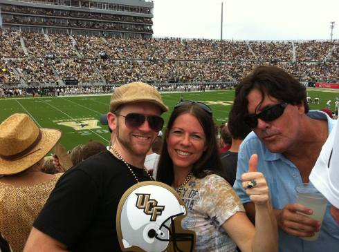 My first ever game of American Football. Go UCF!
