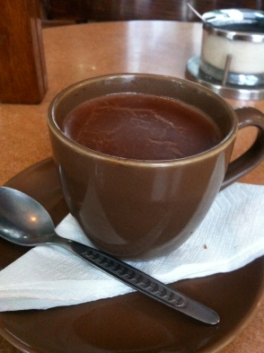 The thickest hot chocolate ever in Museo de Chocolate