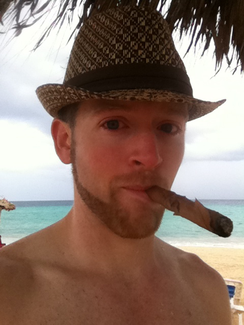 "At this time of year everyone could do with a little bit of ""Tropical Paradise"". The cigar is just for added effect!"