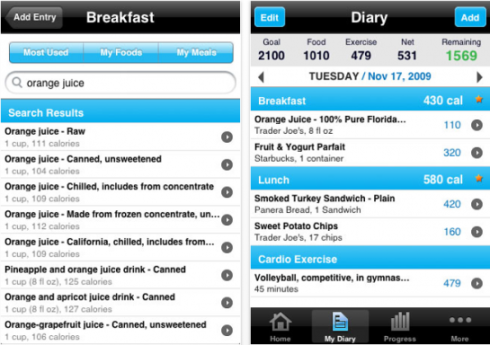 Here's a screenshot of a typical calorie/macro tracking app