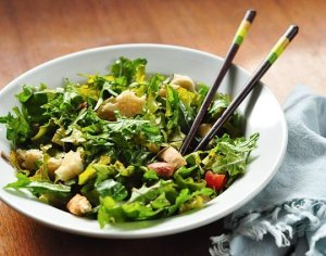 Salad with chopsticks? Try it. You'll never try to stab a piece of lettuce with a fork again!